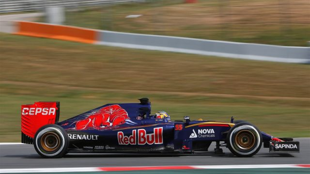 Carlos Sainz (ESP) Scuderia Toro Rosso STR10 at Formula One Testing, Day One, Barcelona, Spain, 12 May 2015. &copy&#x3b; Sutton Motorsport Images
