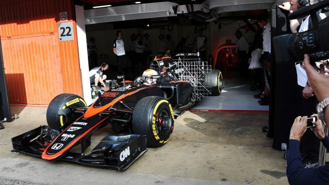 Jenson Button (GBR) McLaren MP4-30 at Formula One Testing, Day Two, Barcelona, Spain, 13 May 2015. &copy&#x3b; Sutton Motorsport Images