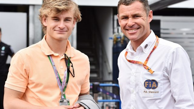 Tom Kristensen (DEN) FIA Steward with his son at Formula One World Championship, Rd6, Monaco Grand Prix Qualifying, Monte-Carlo, Monaco, Saturday 23 May 2015. &copy&#x3b; Sutton Motorsport Images