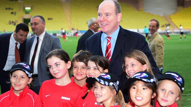 HSH Prince Albert of Monaco (MON) at World Stars Football Match, Stade Luis II, Monaco, Tuesday 19 May 2015. &copy&#x3b; Sutton Motorsport Images