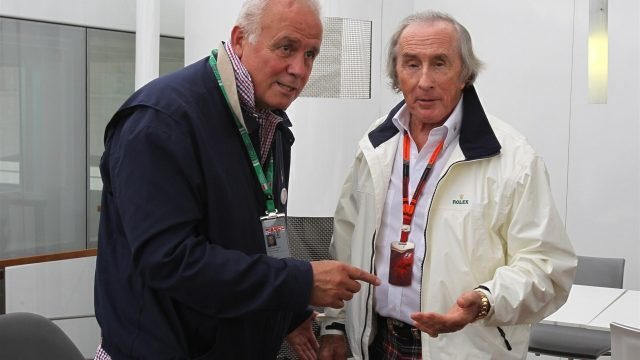 Patrick Tambay (FRA) and Sir Jackie Stewart (GBR) at Formula One World Championship, Rd6, Monaco Grand Prix Practice, Monte-Carlo, Monaco, Thursday 21  May 2015. &copy&#x3b; Sutton Motorsport Images