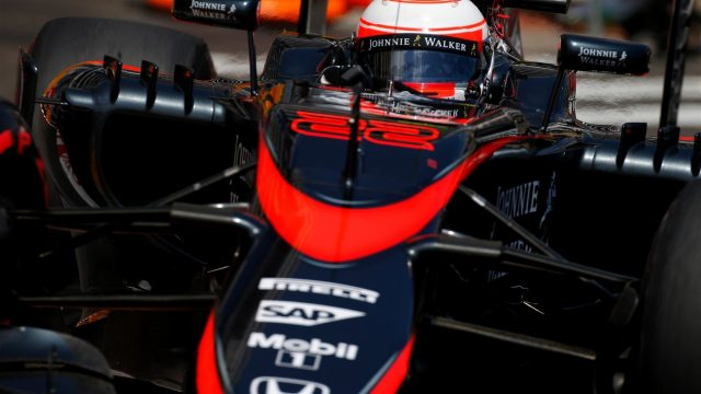 Jenson Button (GBR) McLaren MP4-30 at Formula One World Championship, Rd6, Monaco Grand Prix Race, Monte-Carlo, Monaco, Sunday 24 May 2015. &copy&#x3b; Sutton Motorsport Images