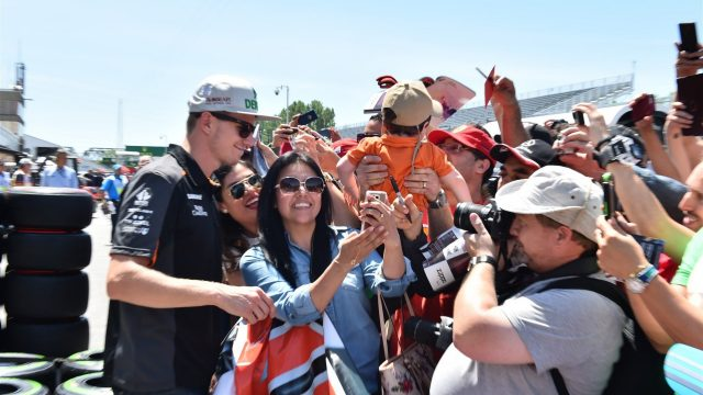 Nico Hulkenberg (GER) Force India F1 signs autographs for the fans at Formula One World Championship, Rd7, Canadian Grand Prix, Preparations, Montreal, Canada, Thursday 4 June 2015. &copy&#x3b; Sutton Motorsport Images
