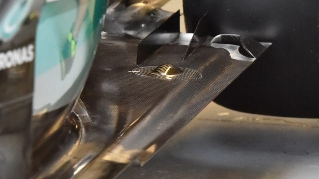 Mercedes AMG F1 W06 rear floor detail at Formula One World Championship, Rd7, Canadian Grand Prix, Practice, Montreal, Canada, Friday 5 June 2015. &copy&#x3b; Sutton Motorsport Images
