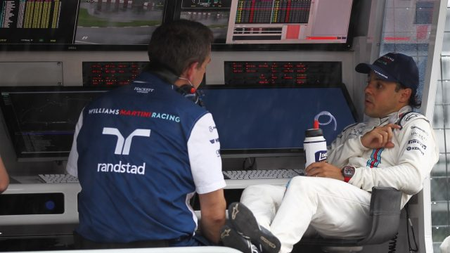Felipe Massa (BRA) Williams and Steve Nielson (GBR) Williams F1 Sporting Manager at Formula One World Championship, Rd7, Canadian Grand Prix, Practice, Montreal, Canada, Friday 5 June 2015. &copy&#x3b; Sutton Motorsport Images