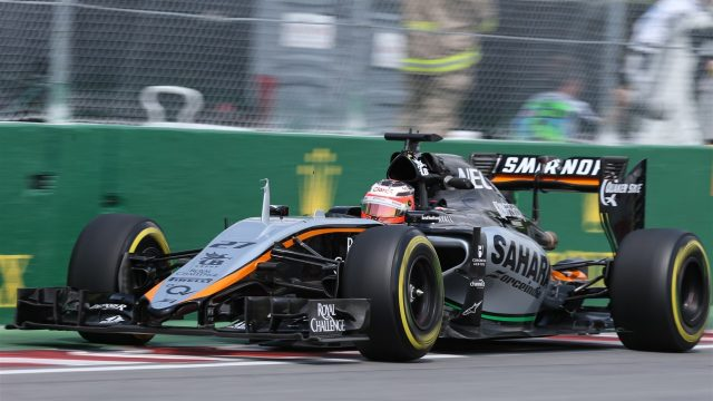 Nico Hulkenberg (GER) Force India VJM08 at Formula One World Championship, Rd7, Canadian Grand Prix, Practice, Montreal, Canada, Friday 5 June 2015. &copy&#x3b; Sutton Motorsport Images