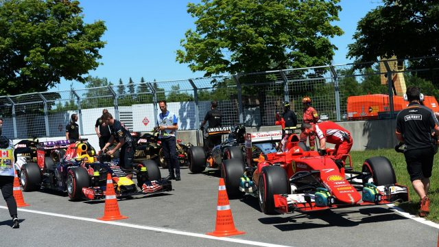 Parc Ferme after qualifying at Formula One World Championship, Rd7, Canadian Grand Prix, Qualifying, Montreal, Canada, Saturday 6 June 2015. &copy&#x3b; Sutton Motorsport Images