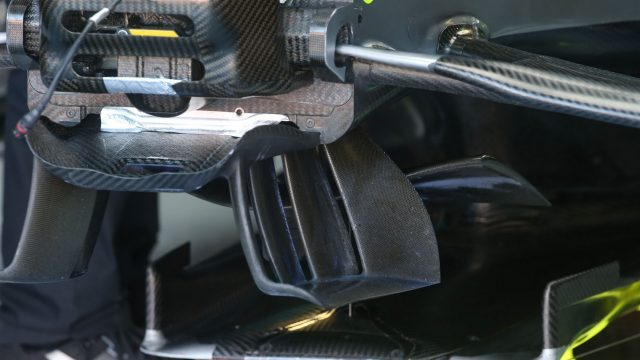 Mercedes AMG F1 W06 aero detail at Formula One World Championship, Rd7, Canadian Grand Prix, Qualifying, Montreal, Canada, Saturday 6 June 2015. &copy&#x3b; Sutton Motorsport Images