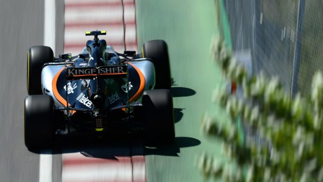 Sergio Perez (MEX) Force India VJM08 at Formula One World Championship, Rd7, Canadian Grand Prix, Qualifying, Montreal, Canada, Saturday 6 June 2015. &copy&#x3b; Sutton Motorsport Images