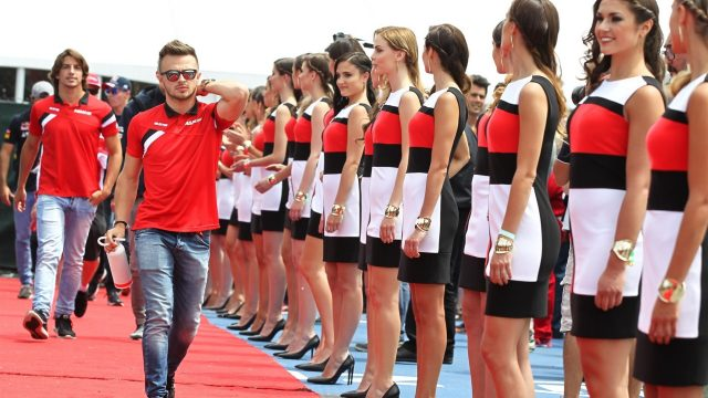 Will Stevens (GBR) Marussia on the drivers parade at Formula One World Championship, Rd7, Canadian Grand Prix, Race, Montreal, Canada, Sunday 7 June 2015. &copy&#x3b; Sutton Motorsport Images