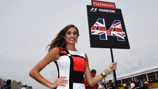 Grid girl at Formula One World Championship, Rd7, Canadian Grand Prix, Race, Montreal, Canada, Sunday 7 June 2015. &copy&#x3b; Sutton Motorsport Images