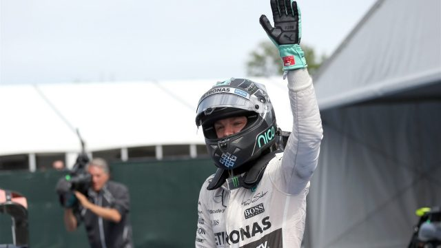 Nico Rosberg (GER) Mercedes AMG F1 celebrates in parc ferme at Formula One World Championship, Rd7, Canadian Grand Prix, Race, Montreal, Canada, Sunday 7 June 2015. &copy&#x3b; Sutton Motorsport Images