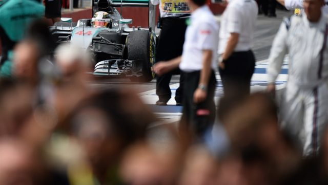 Lewis Hamilton (GBR) Mercedes AMG F1 W06 in parc ferme at Formula One World Championship, Rd7, Canadian Grand Prix, Race, Montreal, Canada, Sunday 7 June 2015. &copy&#x3b; Sutton Motorsport Images