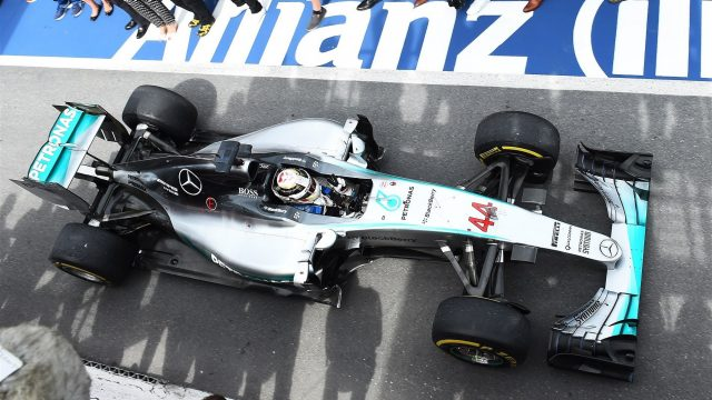 Race winner Lewis Hamilton (GBR) Mercedes AMG F1 W06 in parc ferme at Formula One World Championship, Rd7, Canadian Grand Prix, Race, Montreal, Canada, Sunday 7 June 2015. &copy&#x3b; Sutton Motorsport Images