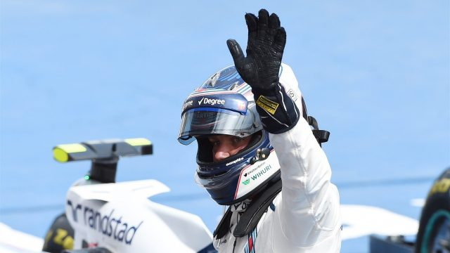 Valtteri Bottas (FIN) Williams celebrates in parc ferme at Formula One World Championship, Rd7, Canadian Grand Prix, Race, Montreal, Canada, Sunday 7 June 2015. &copy&#x3b; Sutton Motorsport Images