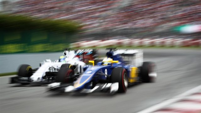 Felipe Massa (BRA) Williams FW37 and Marcus Ericsson (SWE) Sauber C34 at Formula One World Championship, Rd7, Canadian Grand Prix, Race, Montreal, Canada, Sunday 7 June 2015. &copy&#x3b; Sutton Motorsport Images
