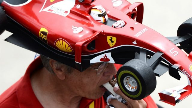 Sebastian Vettel (GER) Ferrari fan at Formula One World Championship, Rd7, Canadian Grand Prix, Race, Montreal, Canada, Sunday 7 June 2015. &copy&#x3b; Sutton Motorsport Images