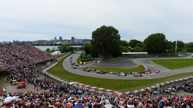The start of the race at Formula One World Championship, Rd7, Canadian Grand Prix, Race, Montreal, Canada, Sunday 7 June 2015. &copy&#x3b; Sutton Motorsport Images