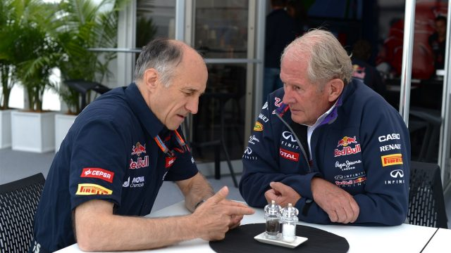 Franz Tost (AUT) Scuderia Toro Rosso Team Principal and Dr Helmut Marko (AUT) Red Bull Motorsport Consultant at Formula One World Championship, Rd7, Canadian Grand Prix, Race, Montreal, Canada, Sunday 7 June 2015. &copy&#x3b; Sutton Motorsport Images