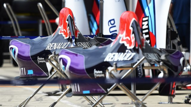 Red Bull Racing RB11 bodywork at Formula One World Championship, Rd8, Austrian Grand Prix, Preparations, Spielberg, Austria, Thursday 18 June 2015. &copy&#x3b; Sutton Motorsport Images