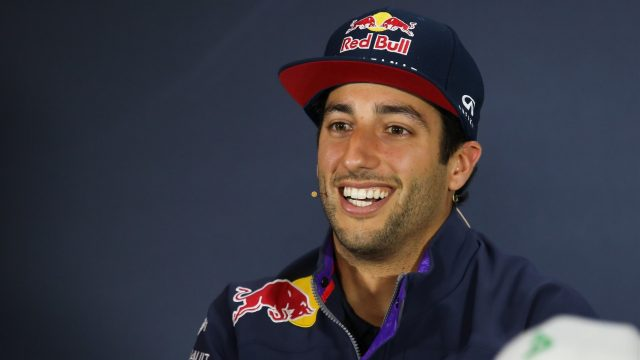 Daniel Ricciardo (AUS) Red Bull Racing in the press conference at Formula One World Championship, Rd8, Austrian Grand Prix, Preparations, Spielberg, Austria, Thursday 18 June 2015. &copy&#x3b; Sutton Motorsport Images