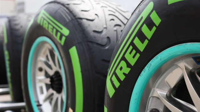 Green colored intermediate Pirelli types at Formula One World Championship, Rd8, Austrian Grand Prix, Preparations, Spielberg, Austria, Thursday 18 June 2015. &copy&#x3b; Sutton Motorsport Images