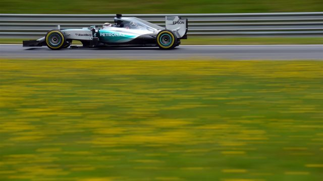 Lewis Hamilton (GBR) Mercedes AMG F1 W06 at Formula One World Championship, Rd8, Austrian Grand Prix, Practice, Spielberg, Austria, Friday 19 June 2015. &copy&#x3b; Sutton Motorsport Images