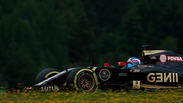 Jolyon Palmer (GBR) Lotus Test and Reserve Driver at Formula One World Championship, Rd8, Austrian Grand Prix, Practice, Spielberg, Austria, Friday 19 June 2015. &copy&#x3b; Sutton Motorsport Images