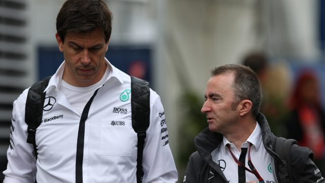 Toto Wolff (AUT) Mercedes AMG F1 Director of Motorsport and Paddy Lowe (GBR) Mercedes AMG F1 Executive Director at Formula One World Championship, Rd8, Austrian Grand Prix, Practice, Spielberg, Austria, Friday 19 June 2015. &copy&#x3b; Sutton Motorsport Images