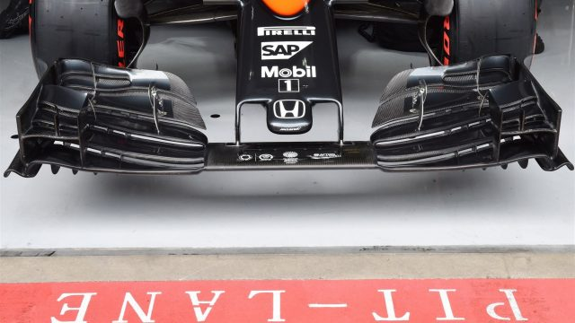 McLaren MP4-30 new nose and front wing at Formula One World Championship, Rd8, Austrian Grand Prix, Practice, Spielberg, Austria, Friday 19 June 2015. &copy&#x3b; Sutton Motorsport Images