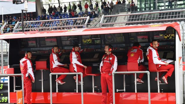 James Allison (GBR) Ferrari Chassis Technical Director on the Ferrari pit wall gantry at Formula One World Championship, Rd8, Austrian Grand Prix, Qualifying, Spielberg, Austria, Saturday 20 June 2015. &copy&#x3b; Sutton Motorsport Images