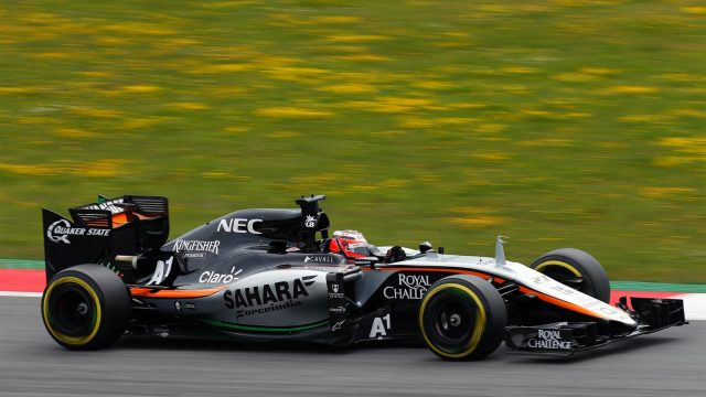 Nico Hulkenberg (GER) Force India VJM08 at Formula One World Championship, Rd8, Austrian Grand Prix, Qualifying, Spielberg, Austria, Saturday 20 June 2015. &copy&#x3b; Sutton Motorsport Images