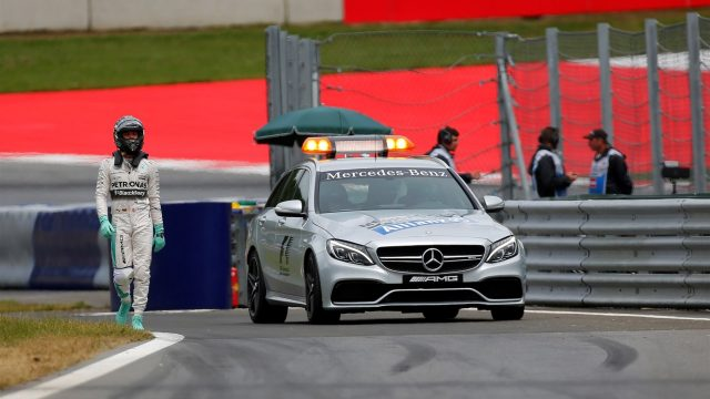Nico Rosberg (GER) Mercedes AMG F1 walks in after spinning out in Q3 at Formula One World Championship, Rd8, Austrian Grand Prix, Qualifying, Spielberg, Austria, Saturday 20 June 2015. &copy&#x3b; Sutton Motorsport Images