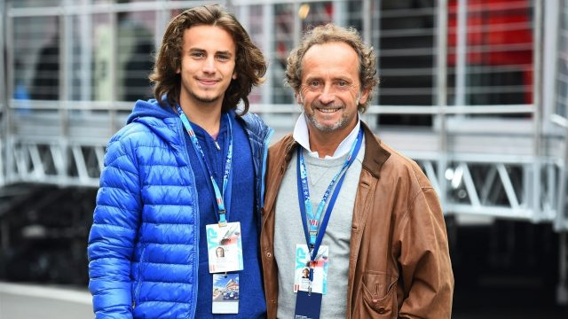 Pier Luigi Martini (ITA) Former Minardi driver in the paddock with his son at Formula One World Championship, Rd8, Austrian Grand Prix, Qualifying, Spielberg, Austria, Saturday 20 June 2015. &copy&#x3b; Sutton Motorsport Images