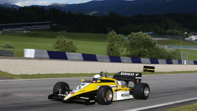Riccardo Patrese (ITA) Renault RE50 at the Legends Parade at Formula One World Championship, Rd8, Austrian Grand Prix, Qualifying, Spielberg, Austria, Saturday 20 June 2015. &copy&#x3b; Sutton Motorsport Images