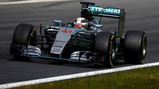 Lewis Hamilton (GBR) Mercedes AMG F1 W06 at Formula One World Championship, Rd8, Austrian Grand Prix, Race, Spielberg, Austria, Sunday 21 June 2015. &copy&#x3b; Sutton Motorsport Images