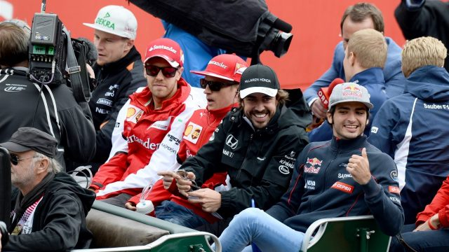 Drivers parade at Formula One World Championship, Rd8, Austrian Grand Prix, Race, Spielberg, Austria, Sunday 21 June 2015. &copy&#x3b; Sutton Motorsport Images