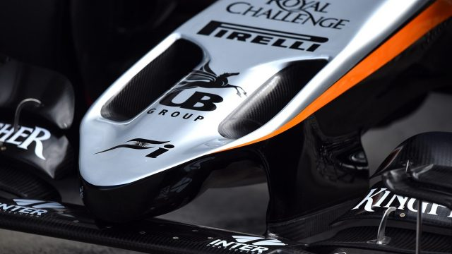 Nose and front wing detail of Force India VJM08 at Formula One Testing, Day Two, Spielberg, Austria, Wednesday 24 June 2015. &copy&#x3b; Sutton Motorsport Images