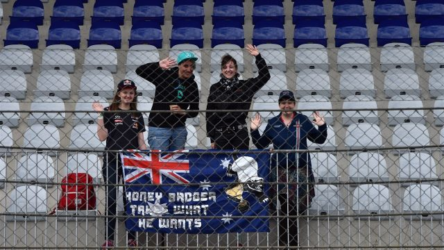 Daniel Ricciardo (AUS) Red Bull Racing fans and banner at Formula One Testing, Day Two, Spielberg, Austria, Wednesday 24 June 2015. &copy&#x3b; Sutton Motorsport Images