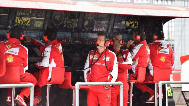 James Allison (GBR) Ferrari Chassis Technical Director and Maurizio Arrivabene (ITA) Ferrari Team Principal on the Ferrari pit wall gantry at Formula One World Championship, Rd8, Austrian Grand Prix, Qualifying, Spielberg, Austria, Saturday 20 June 2015. &copy&#x3b; Sutton Motorsport Images
