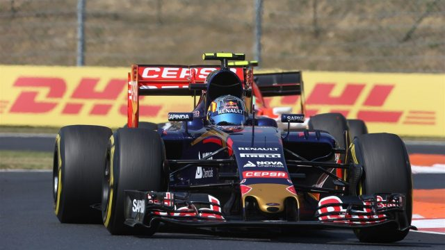 Carlos Sainz (ESP) Scuderia Toro Rosso STR10 at Formula One World Championship, Rd10, Hungarian Grand Prix, Practice, Hungaroring, Hungary, Friday 24 July 2015. &copy&#x3b; Sutton Motorsport Images