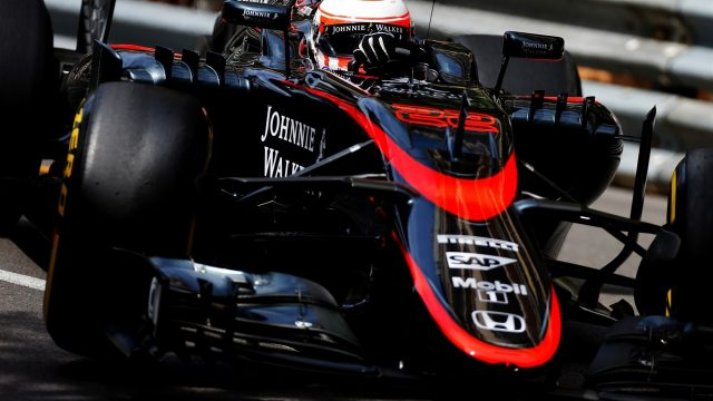Jenson Button (GBR) McLaren MP4-30 at Formula One World Championship, Rd6, Monaco Grand Prix Practice, Monte-Carlo, Monaco, Thursday 21  May 2015. &copy&#x3b; Sutton Motorsport Images