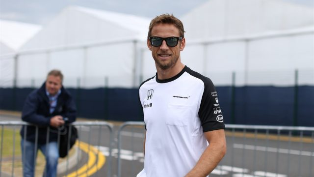 Jenson Button (GBR) McLaren at Formula One World Championship, Rd9, British Grand Prix, Preparations, Silverstone, England, Thursday 2 July 2015. &copy&#x3b; Sutton Motorsport Images