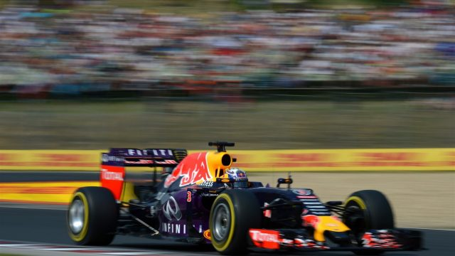 Daniel Ricciardo (AUS) Red Bull Racing RB11 at Formula One World Championship, Rd10, Hungarian Grand Prix, Qualifying, Hungaroring, Hungary, Saturday 25 July 2015. &copy&#x3b; Sutton Motorsport Images