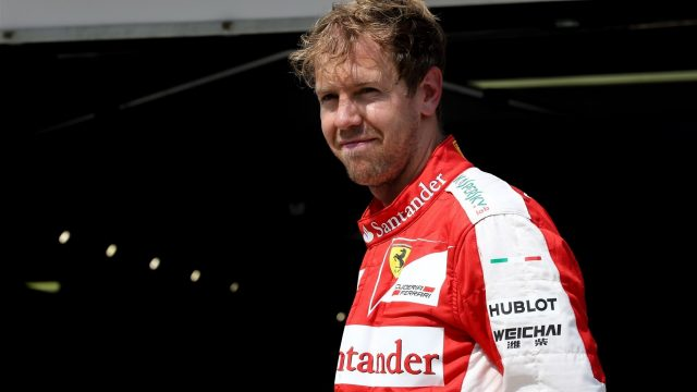 Sebastian Vettel (GER) Ferrari in parc ferme at Formula One World Championship, Rd10, Hungarian Grand Prix, Qualifying, Hungaroring, Hungary, Saturday 25 July 2015. &copy&#x3b; Sutton Motorsport Images