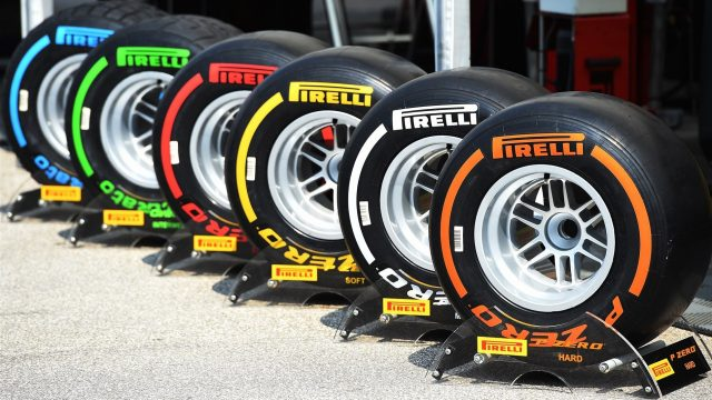 Pirelli tyre compounds 2015 at Formula One World Championship, Rd10, Hungarian Grand Prix, Qualifying, Hungaroring, Hungary, Saturday 25 July 2015. &copy&#x3b; Sutton Motorsport Images