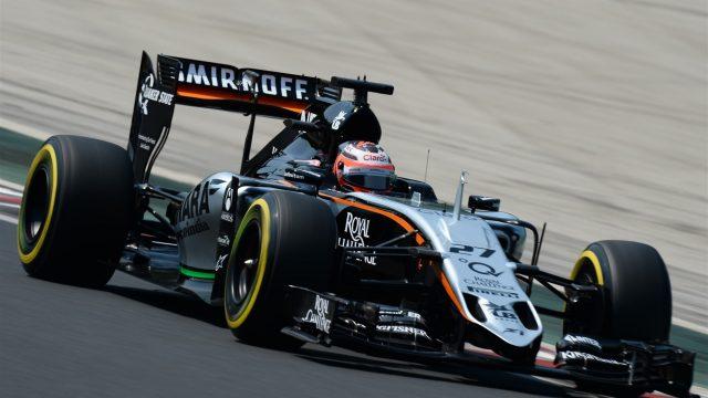 Nico Hulkenberg (GER) Force India VJM08 at Formula One World Championship, Rd10, Hungarian Grand Prix, Qualifying, Hungaroring, Hungary, Saturday 25 July 2015. &copy&#x3b; Sutton Motorsport Images