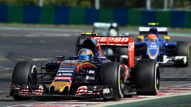 Carlos Sainz (ESP) Scuderia Toro Rosso STR10 at Formula One World Championship, Rd10, Hungarian Grand Prix, Race, Hungaroring, Hungary, Sunday 26 July 2015. &copy&#x3b; Sutton Motorsport Images