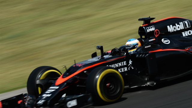 Fernando Alonso (ESP) McLaren MP4-30 at Formula One World Championship, Rd10, Hungarian Grand Prix, Race, Hungaroring, Hungary, Sunday 26 July 2015. &copy&#x3b; Sutton Motorsport Images