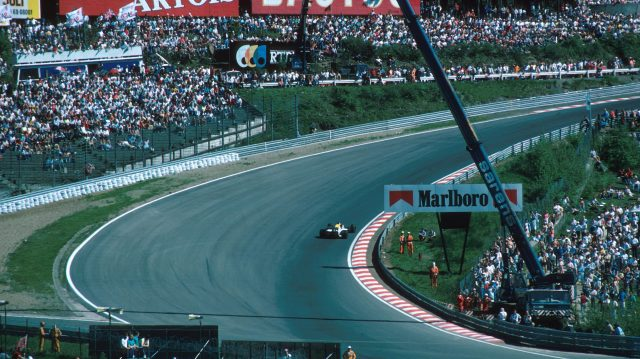 Eau Rouge on the scenic Spa circuit. 1985 Belgian Grand Prix. &copy&#x3b; ©Sutton Motorsport Images